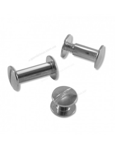 Болты переплетные серебристые 10 мм