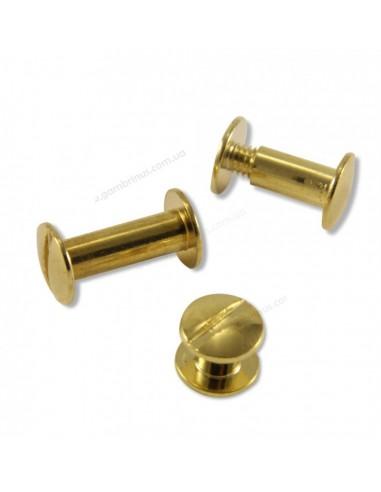 Болты переплетные золотистые 12 мм
