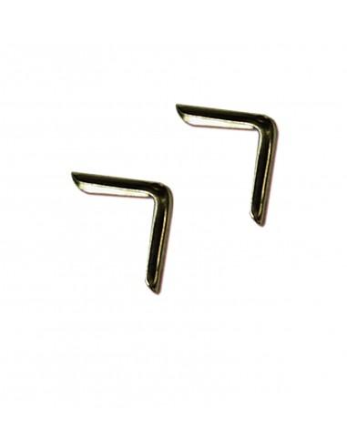 Уголки для папок золотистые 15 мм