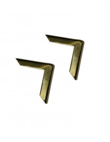 Уголки для папок золотистые 16 мм