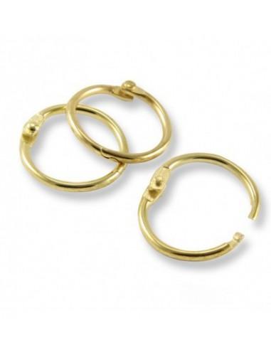 Кольца переплетные золотистые 19 мм