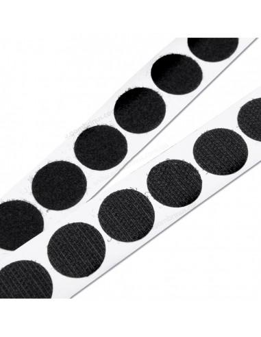 Липучки для папок чорні 21 мм